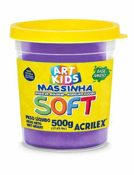 Massa modelar 500g violeta Acrilex