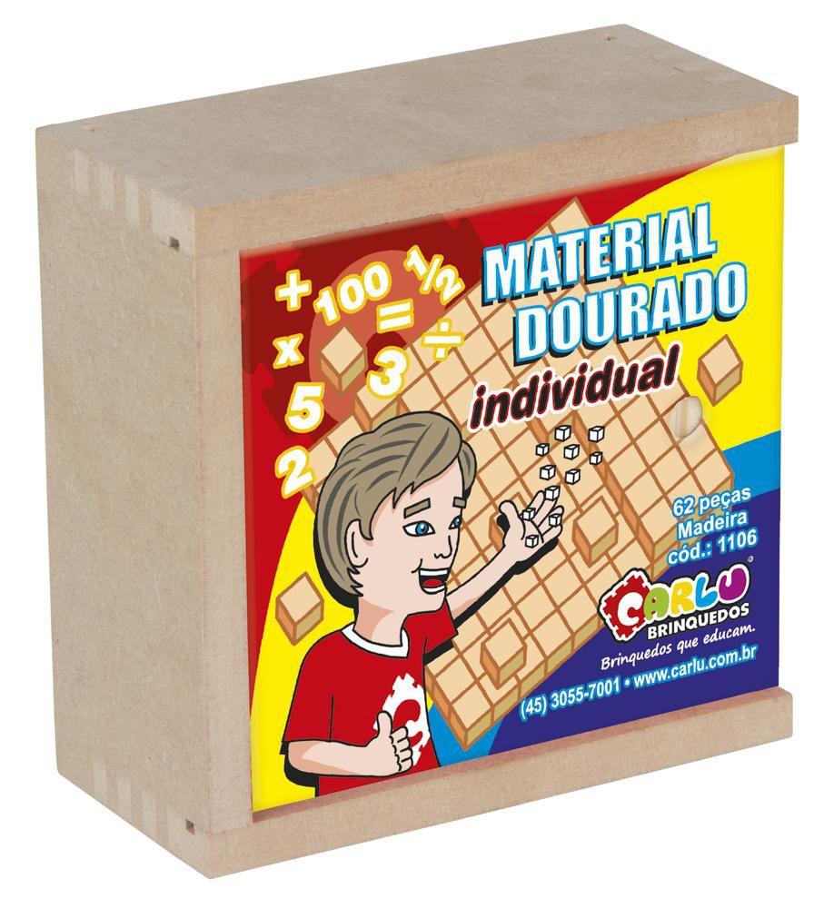 Material dourado madeira 62 peças Carlu
