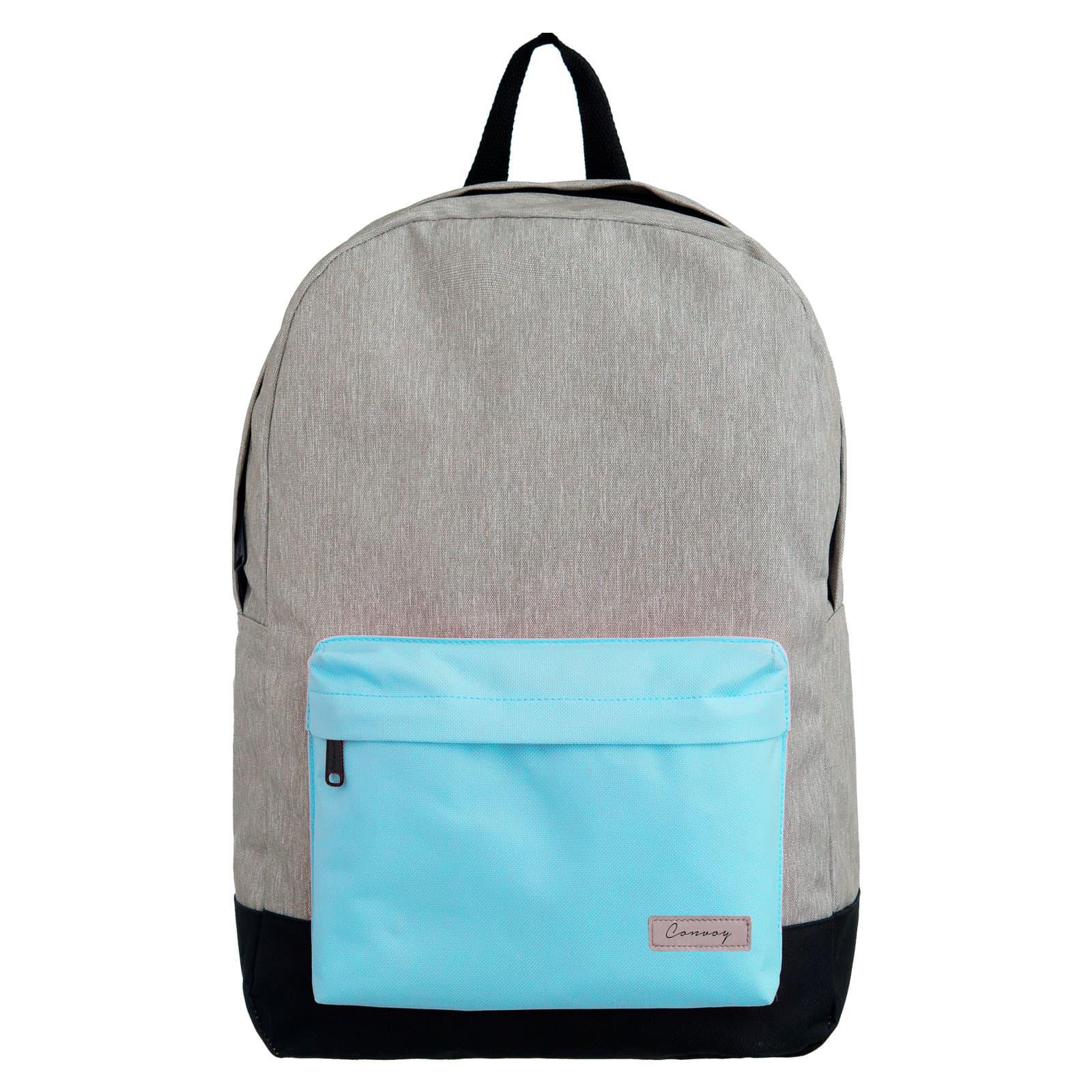 Mochila escolar cinza/azul pastel YS29116 Convoy