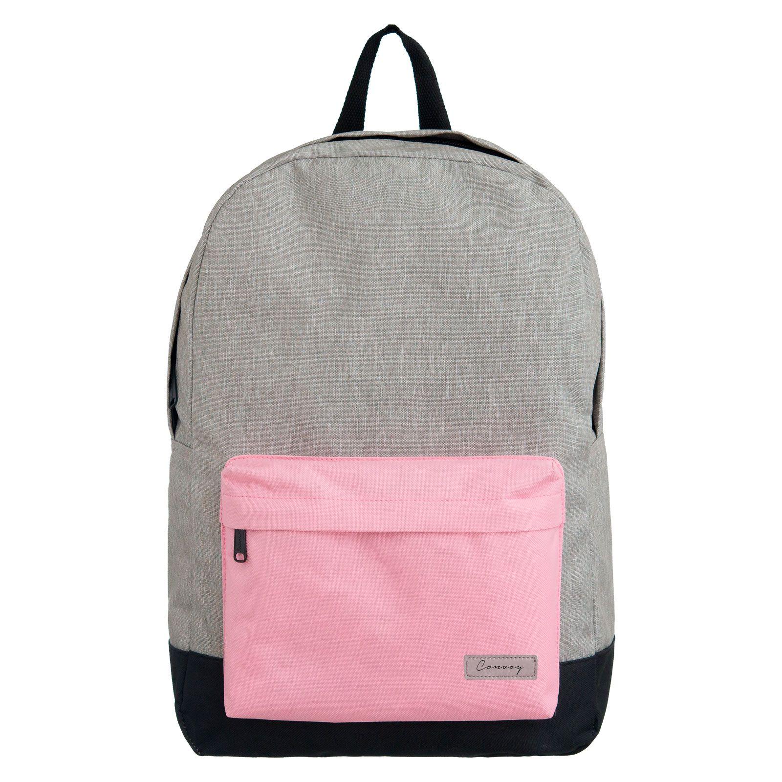 Mochila escolar cinza/rosa pastel YS29116 Convoy