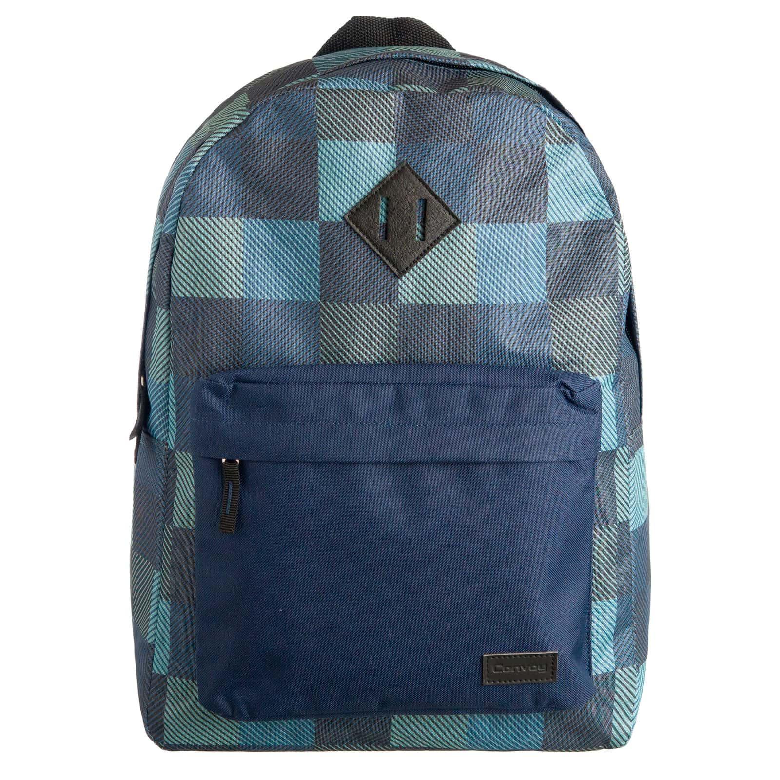Mochila escolar xadrez azul/azul YS29134  Convoy