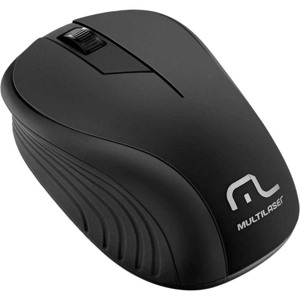 Mouse USB sem fio 1200 dpi preto MO212 Multilaser
