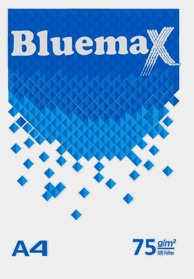 Papel A4 branco 75g 500 fls Bluemax