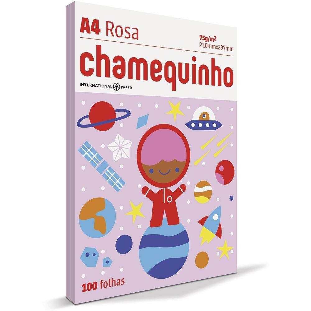 Papel A4 rosa 75g 100 fls Chamex