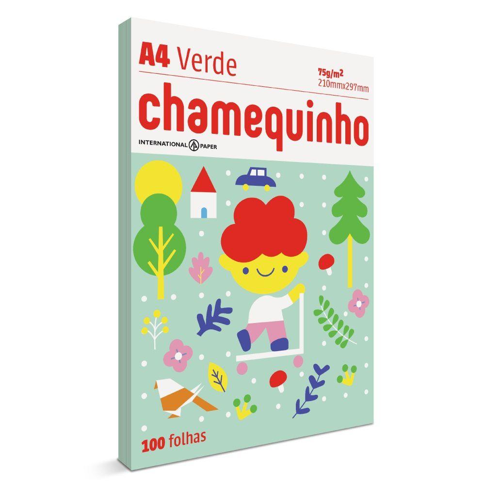 Papel A4 verde 75g 100 fls Chamex