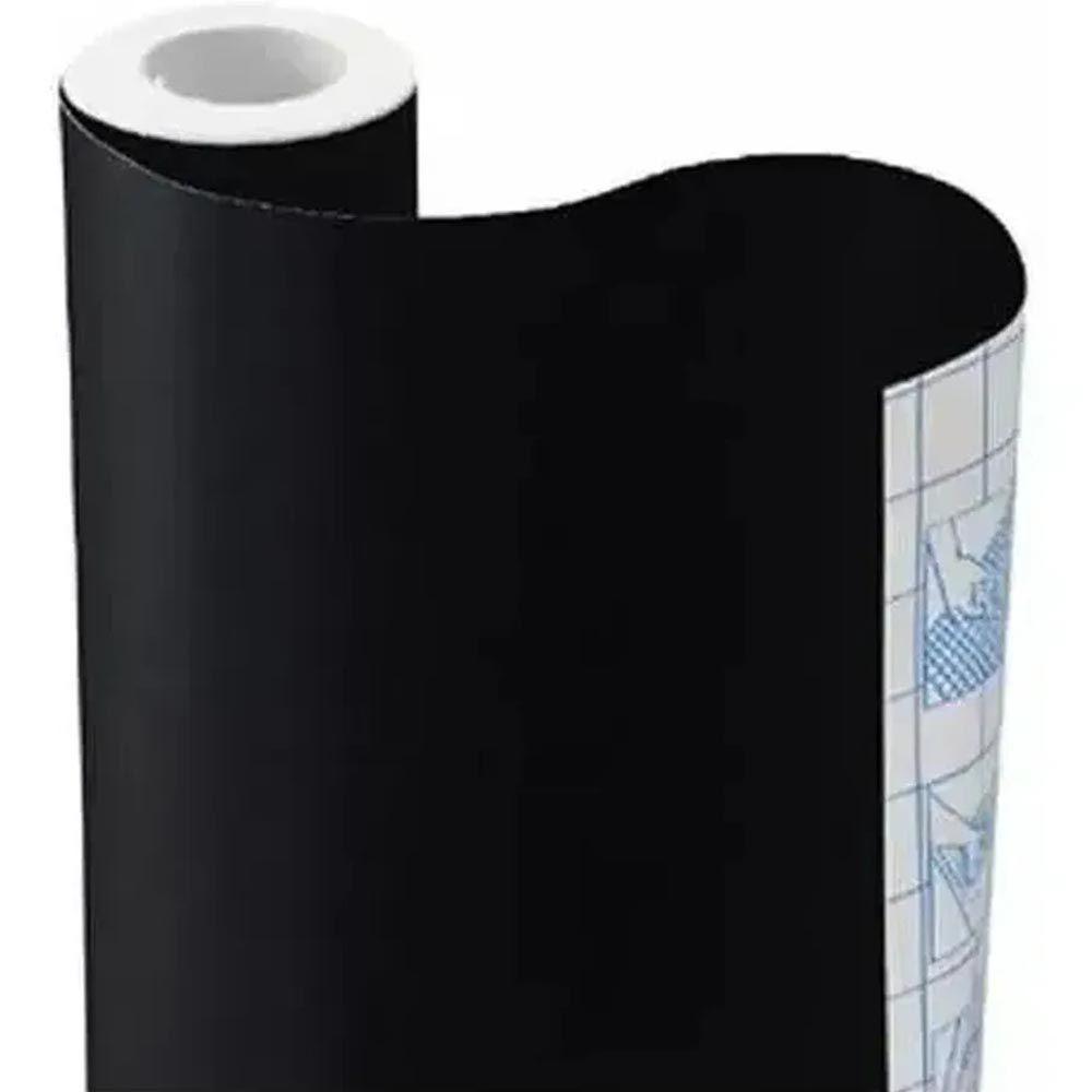 Papel adesivo lousa preto 45cmx5m Contact