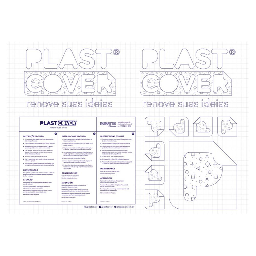 Papel adesivo transparente 60 micra 45cmx25m Plavitec