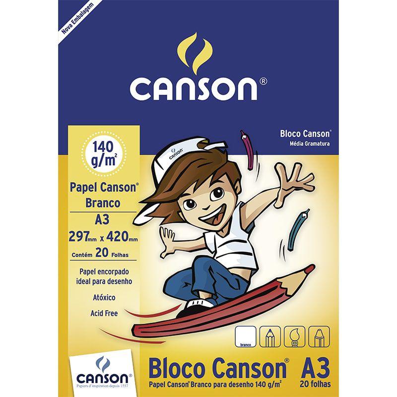 Papel cartão 20 fls A3 140g Canson