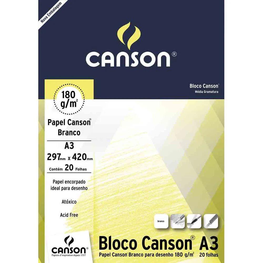 Papel cartão 20 fls A3 180G Canson