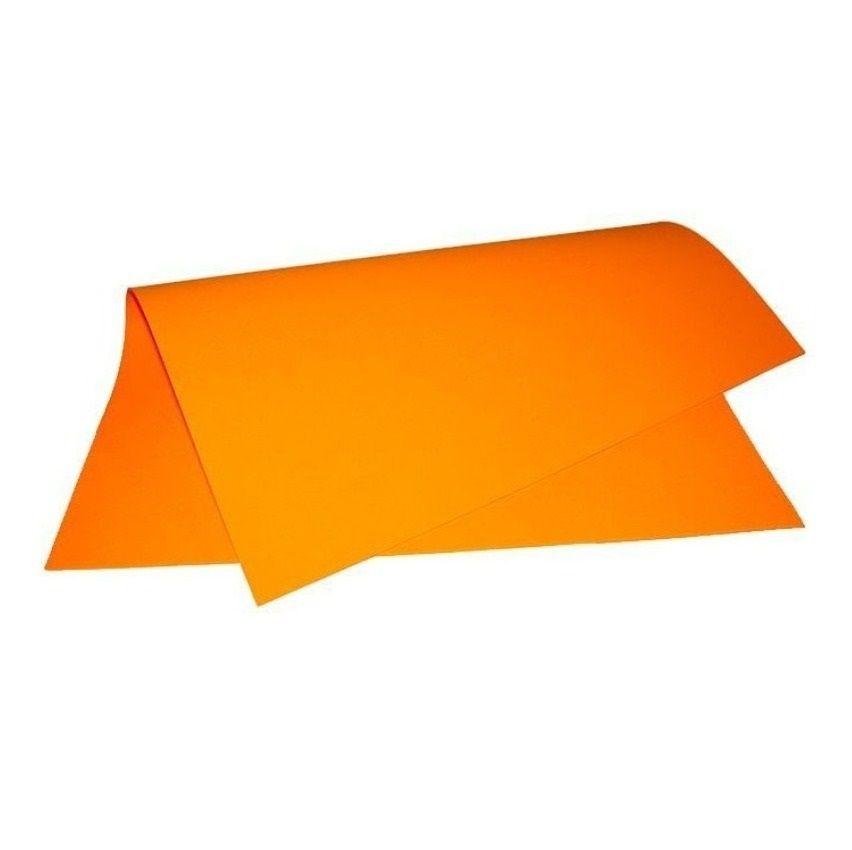 Papel colorset 48x66 laranja Rst
