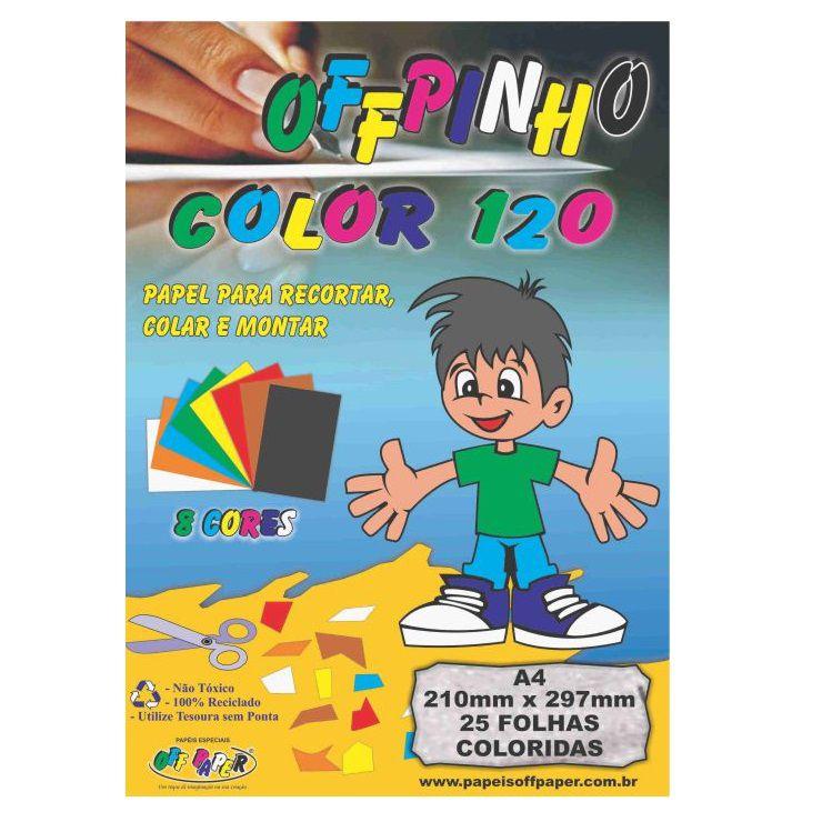 Papel criativo 25 fls 8 cores Off Paper