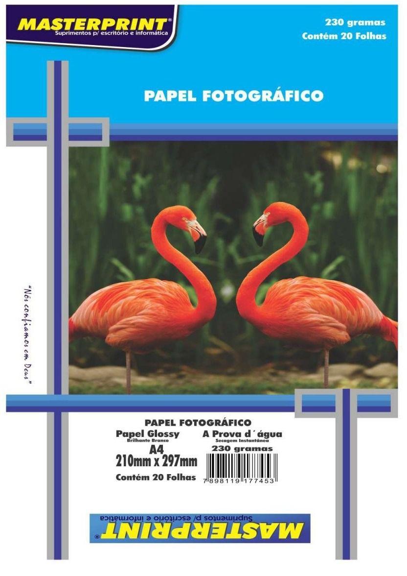 Papel fotográfico 20 fls 230g Masterprint