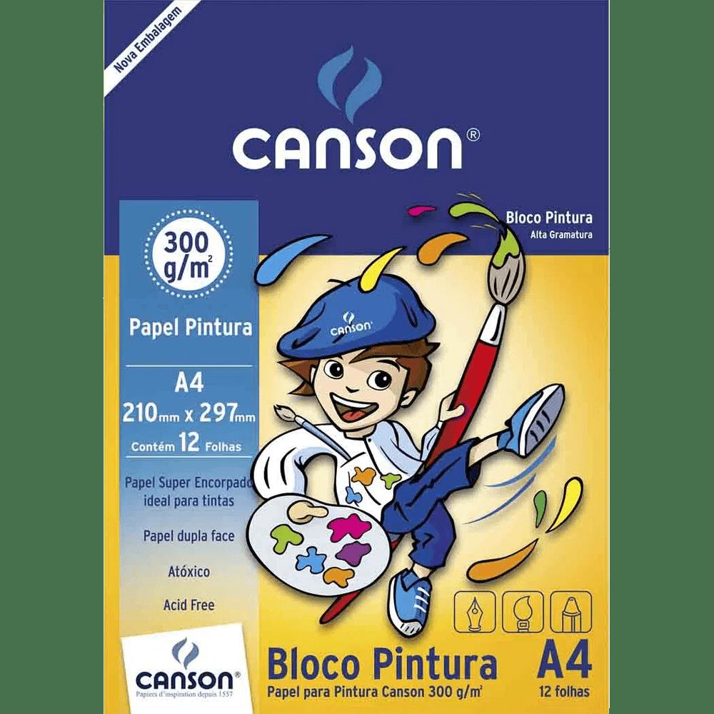 Papel pintura 12 fls A4 300g Canson