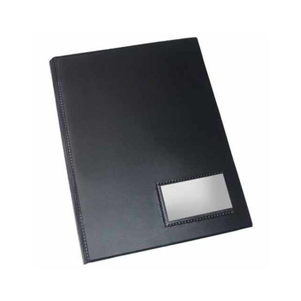 Pasta catálogo capa simples 50 envelopes preto Dac