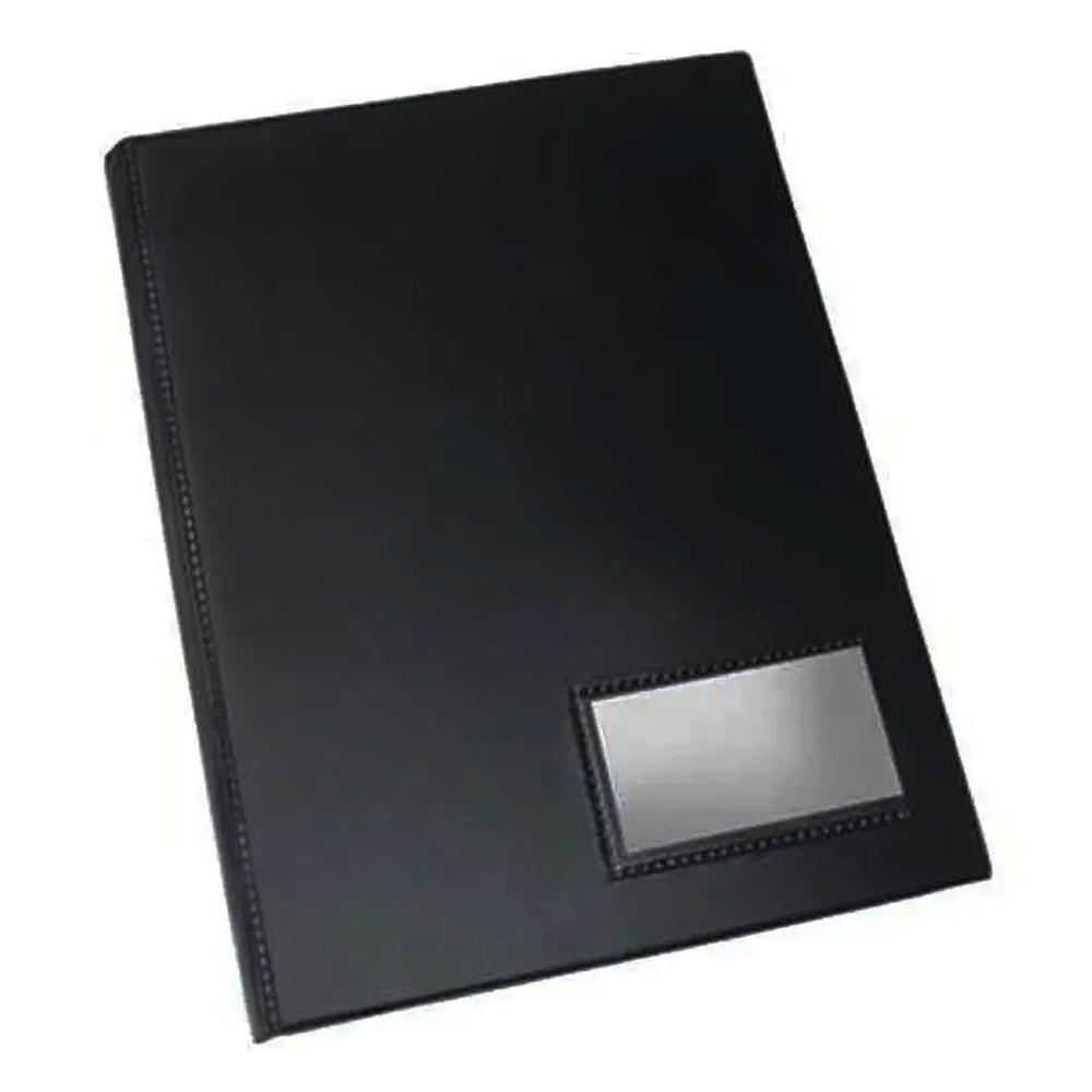 Pasta catálogo capa dura 100 envelopes preto Tn
