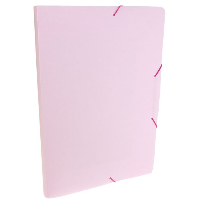 Pasta com elástico A4 2cm rosa pastel SERENA Dello