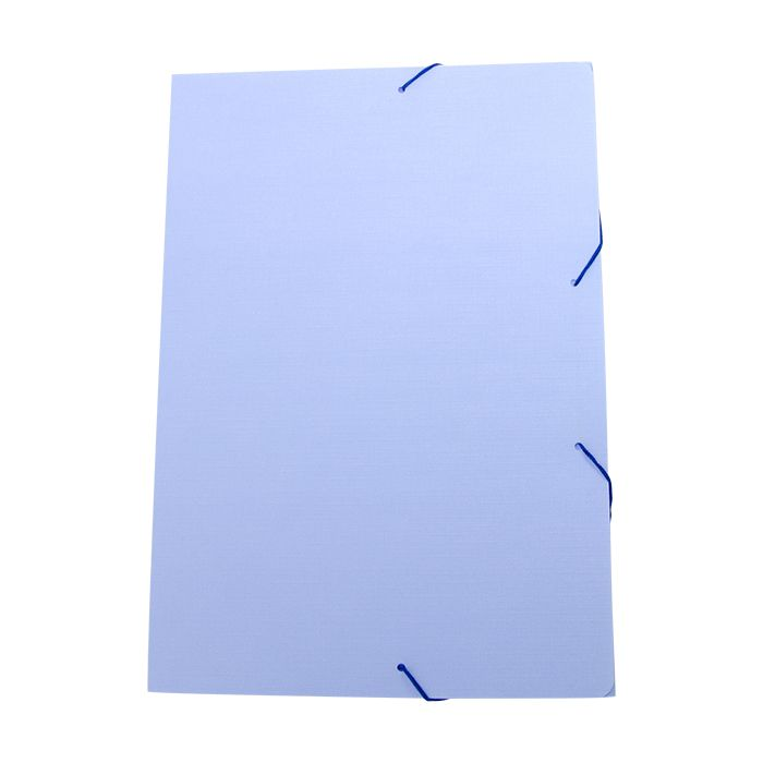 Pasta com elástico A4 fina azul pastel SERENA Dello
