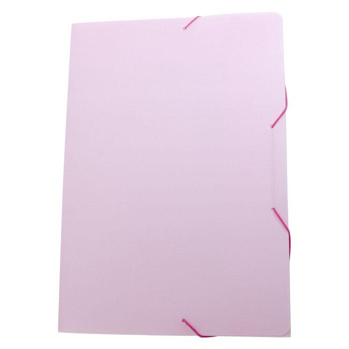 Pasta com elástico A4 fina rosa pastel SERENA Dello