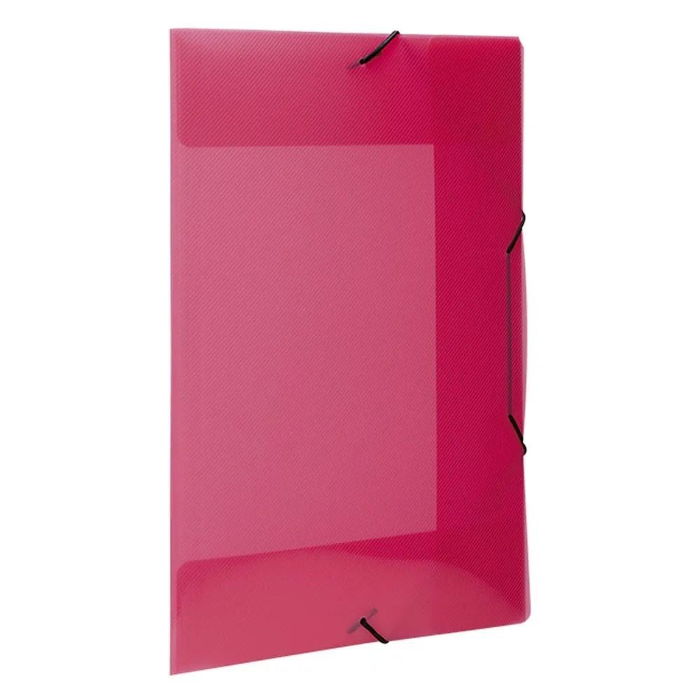 Pasta com elástico A4 fina rosa Top Line Dello