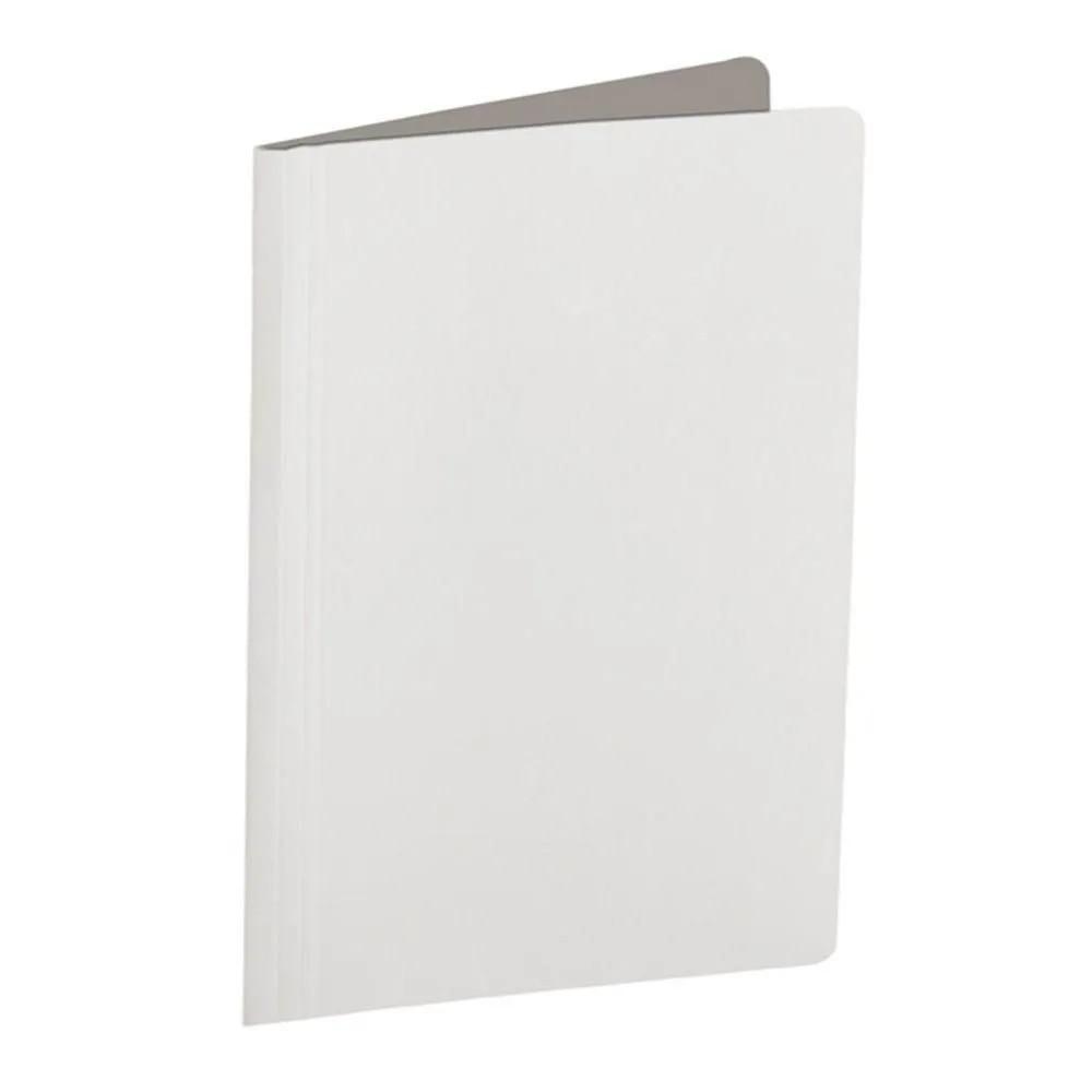 Pasta grampo trilho branco Papel Frama