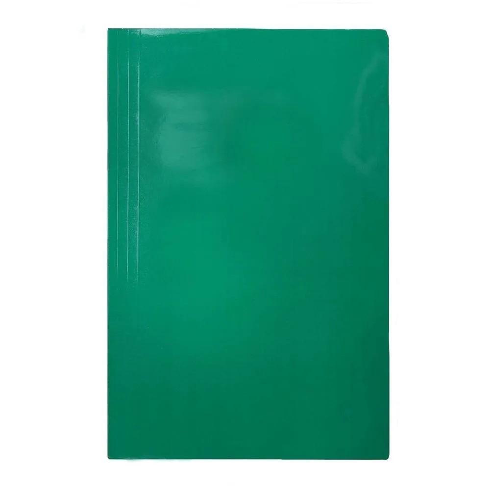 Pasta grampo trilho verde Papel Frama