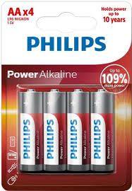 Pilha AA alcalina 4 un Philips
