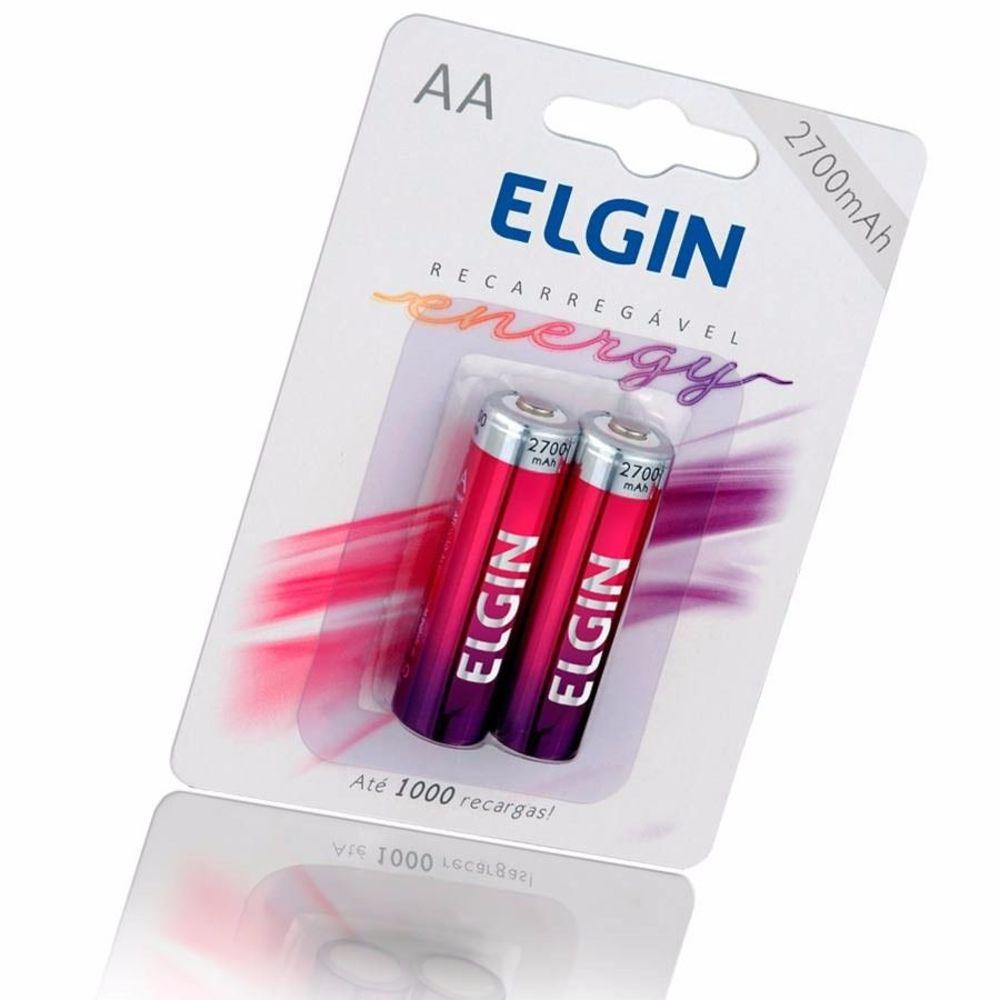Pilha AA recarregável 2 un Elgin