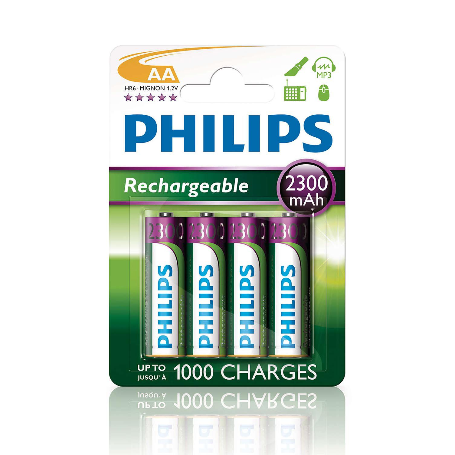 Pilha AA recarregável 4 un Philips