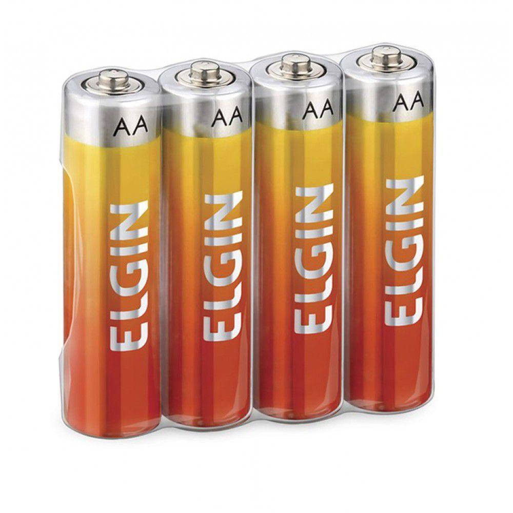Pilha AA zinco 4 un Elgin