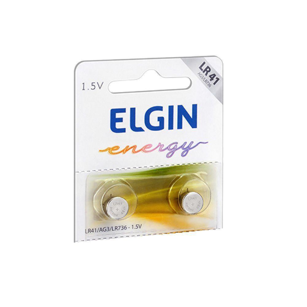 Pilha LR41 2 un Elgin