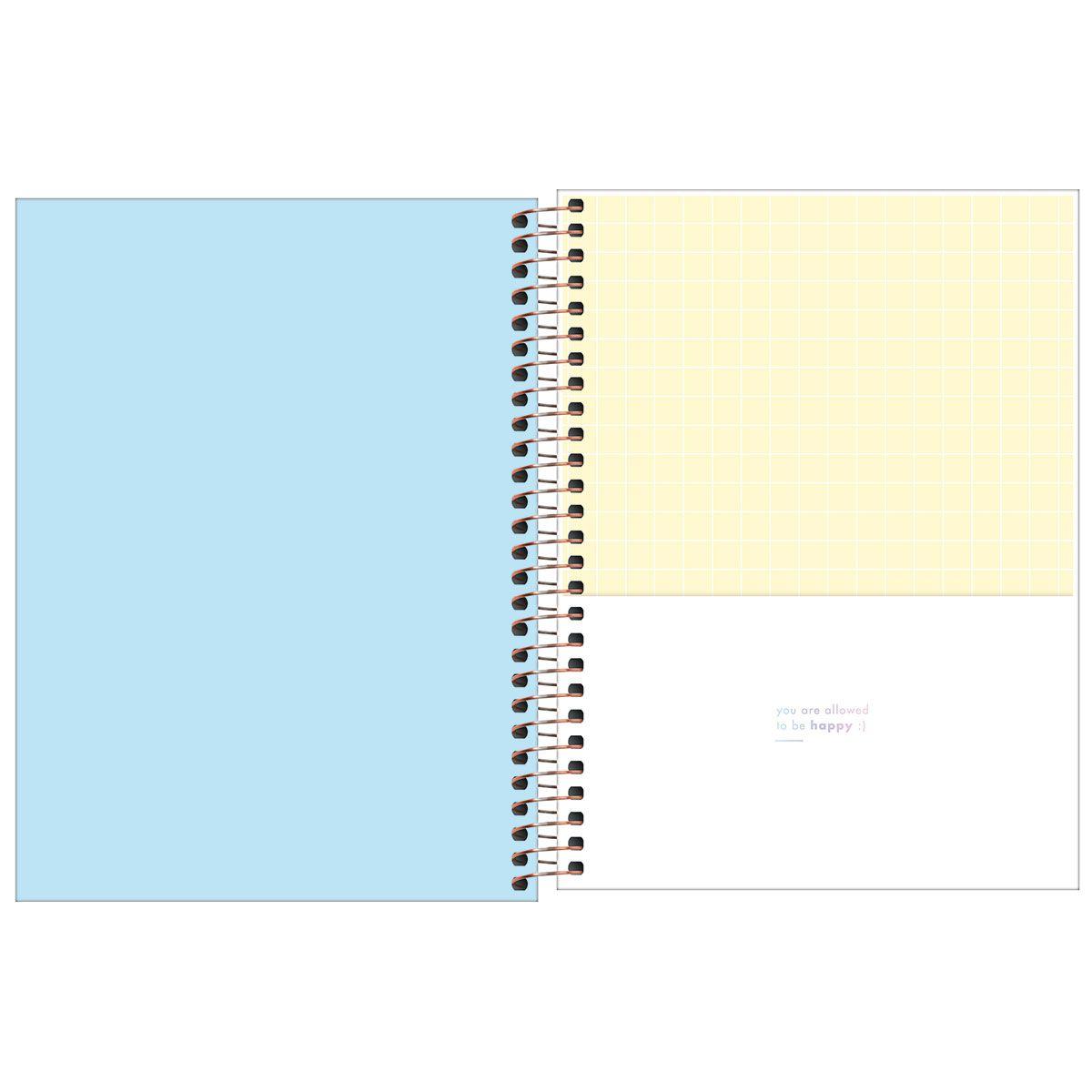 Planner semanal 2021 espiral 80 fls azul Happy M7 Tilibra