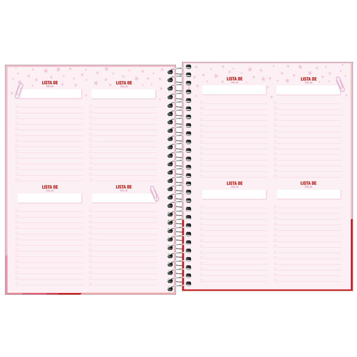 Planner semanal 2021 espiral 80 fls Love Pink M7 Tilibra