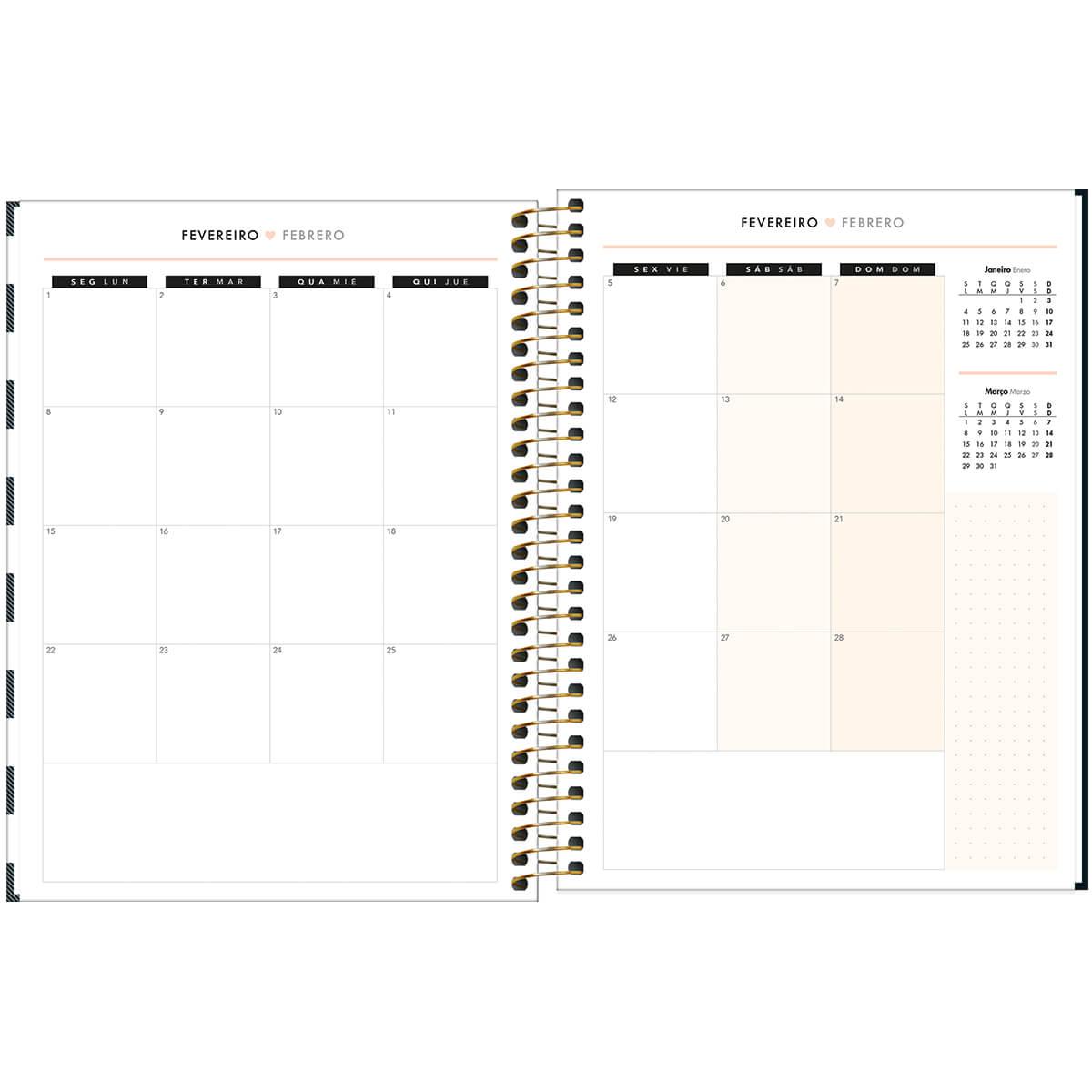 Planner semanal 2021 espiral 80 fls West Village M7 Tilibra