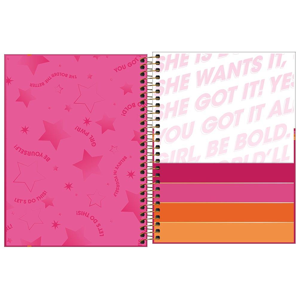 Planner semanal 2022 espiral 80 fls Love Pink M7 Tilibra