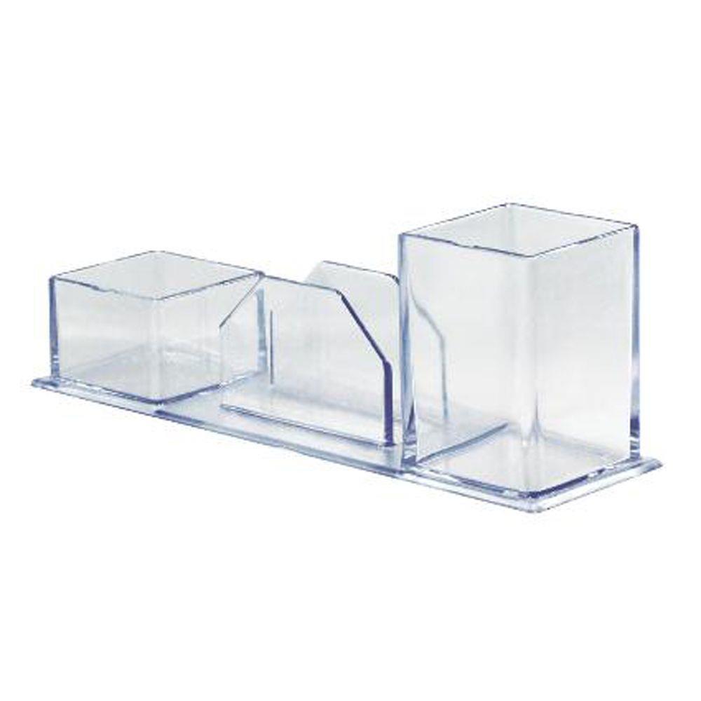 Porta caneta / lembretes / clips cristal Novacril