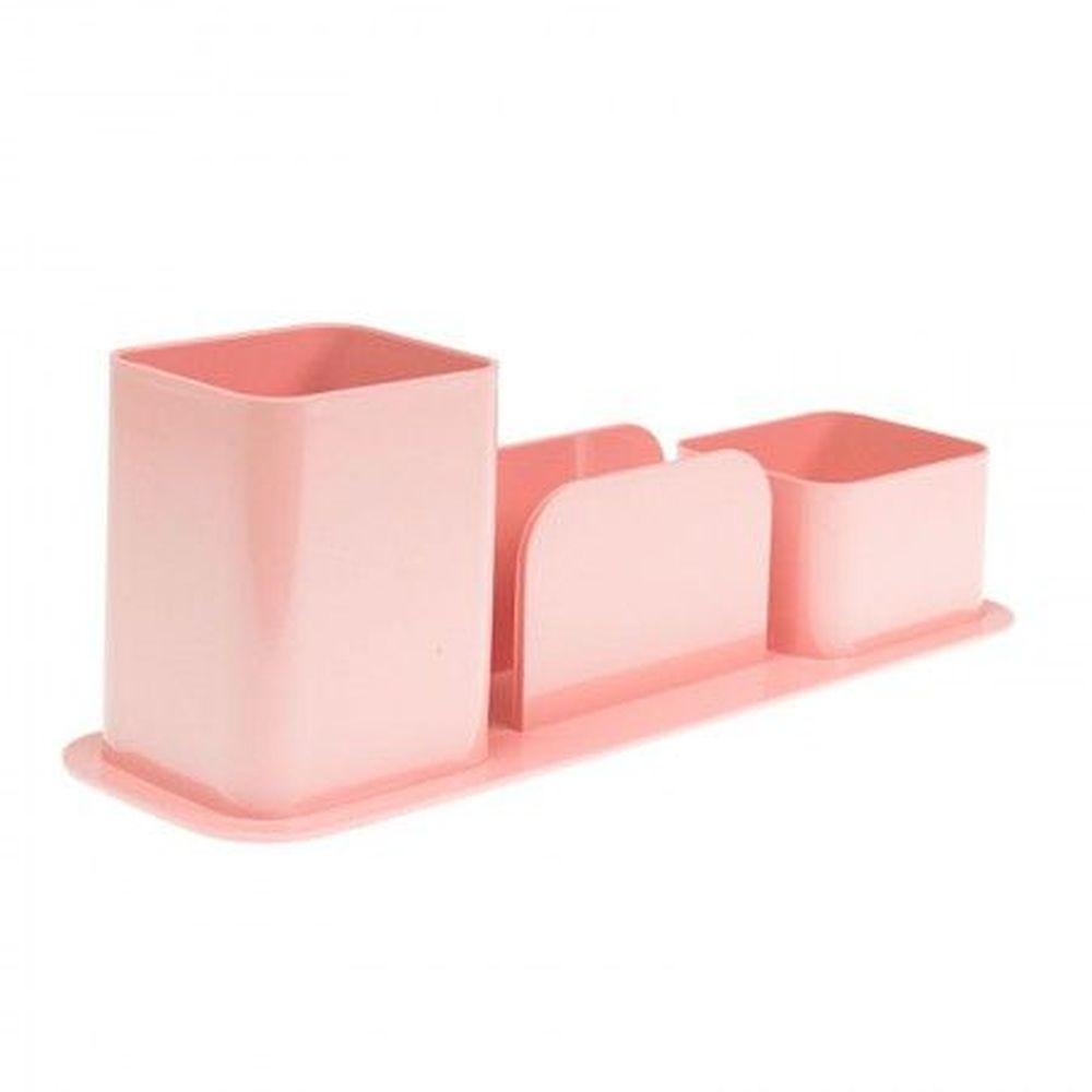 Porta caneta / lembretes / clips rosa claro Dello