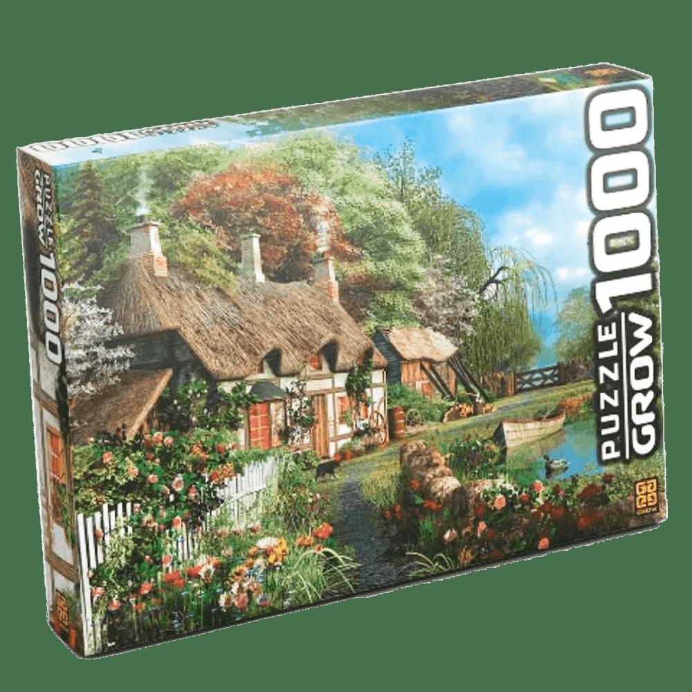 Quebra-cabeça 1000 peças casa no lago Grow