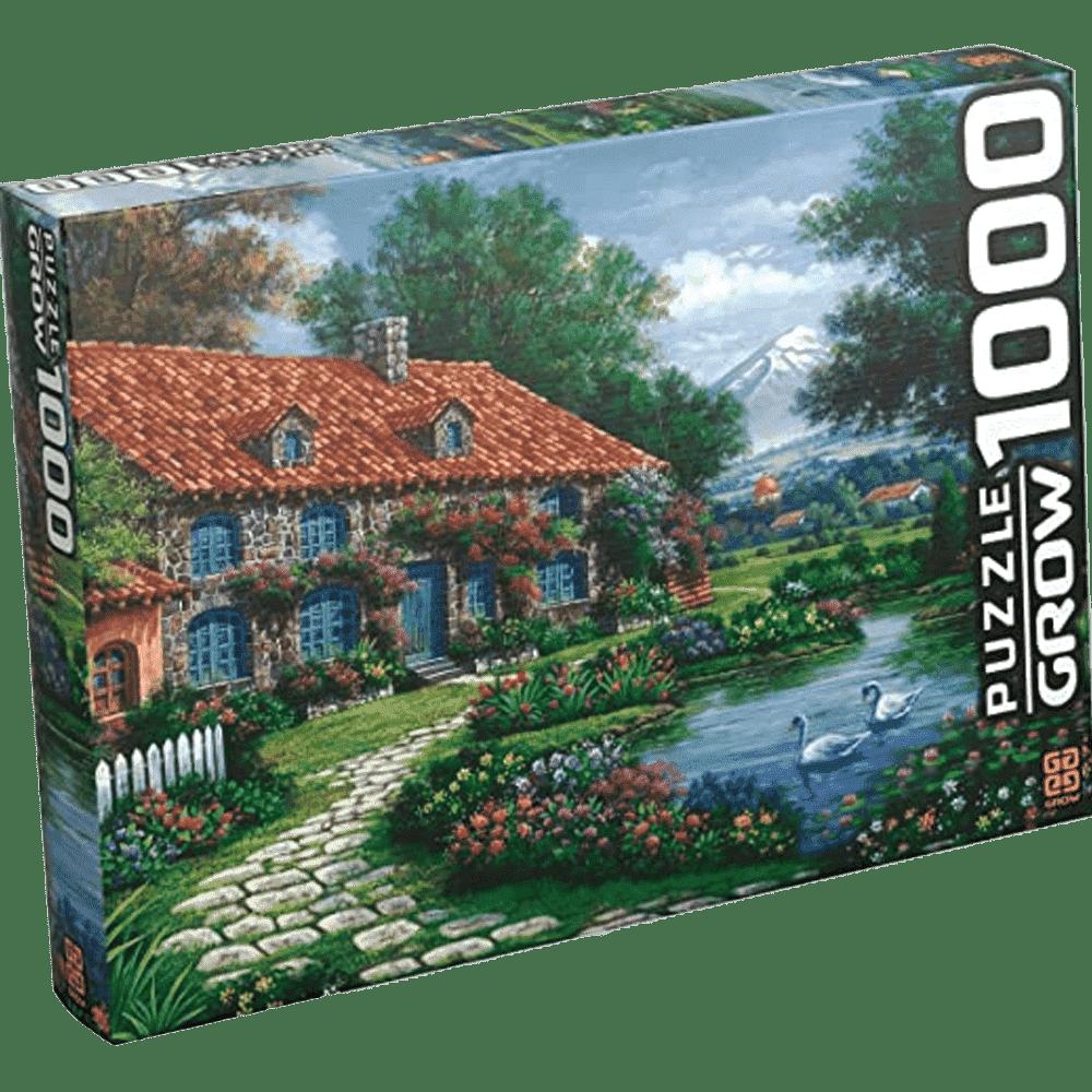 Quebra-cabeça 1000 peças recanto dos cisnes Grow