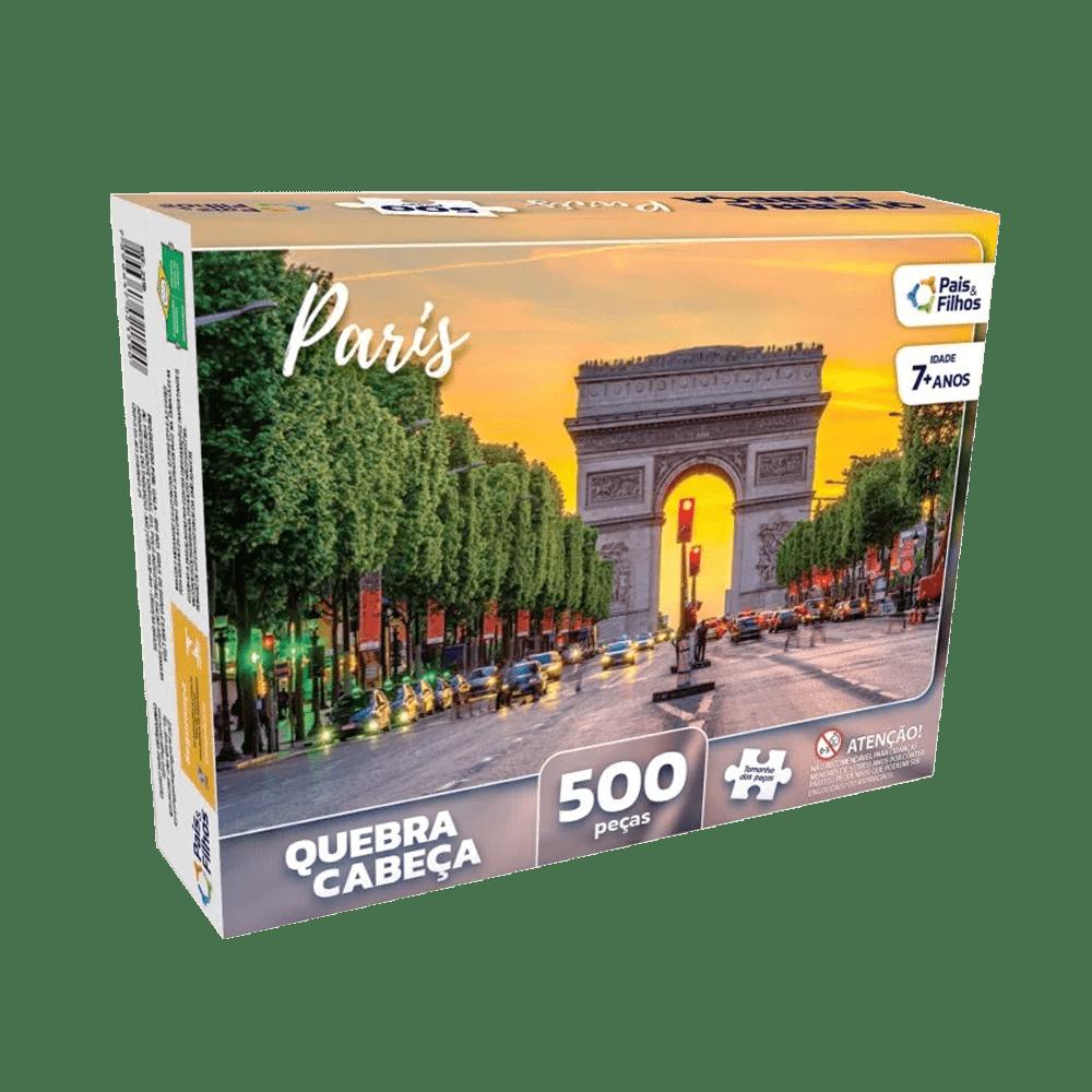 Quebra-cabeça 500 peças Paris Pais e Filhos