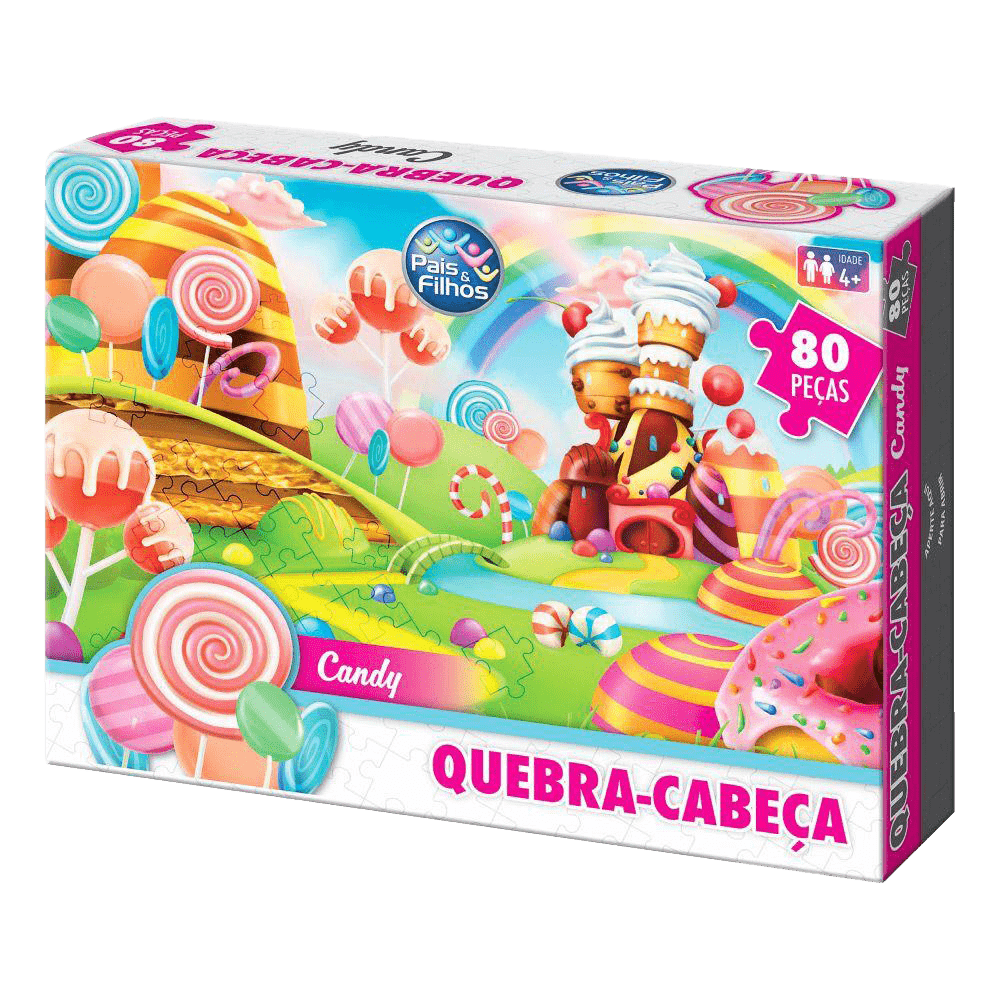 Quebra-cabeça 80 peças Candy Pais e Filhos