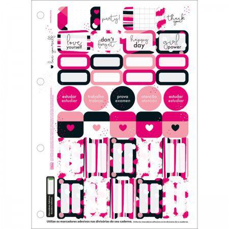Refil pautado 80 fls Love Pink Tilibra