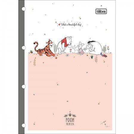 Refil pautado 80 fls Pooh Tilibra