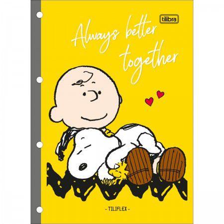 Refil pautado 80 fls Snoopy Tilibra