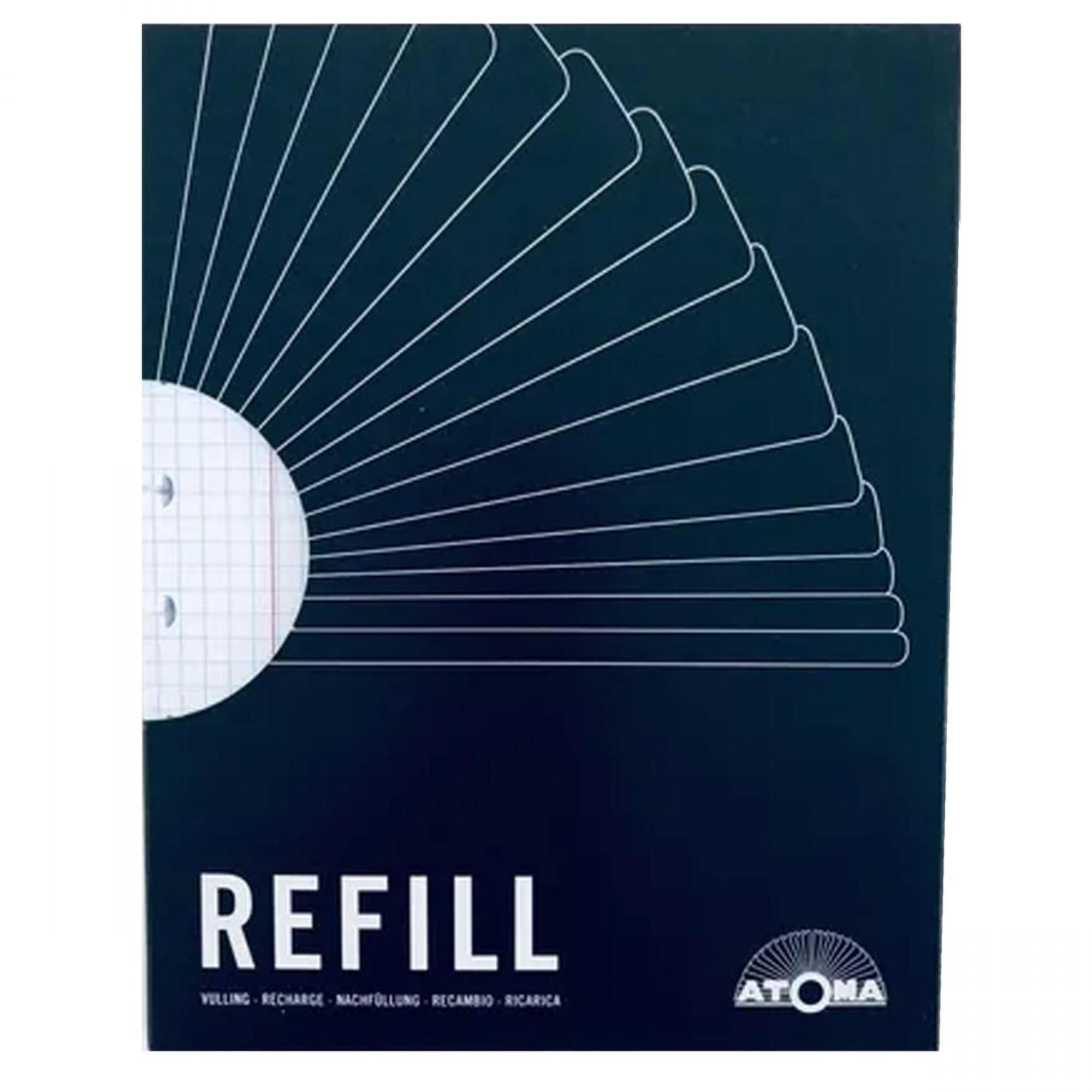 Refil quadriculado A4 60 fls Atoma