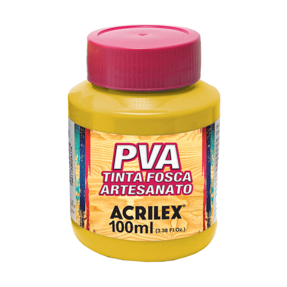 Tinta artesanato 100ml amarelo ouro Acrilex