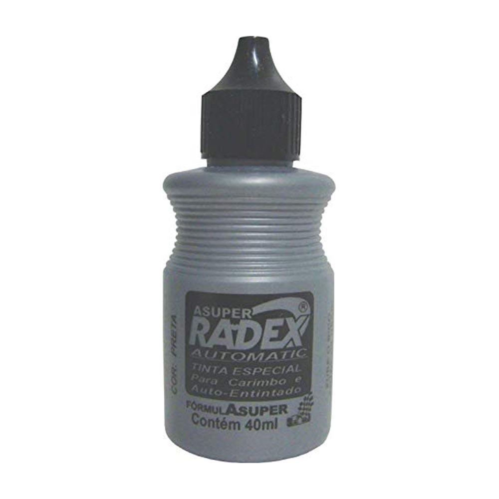 Tinta carimbo automático preto 40ml Radex
