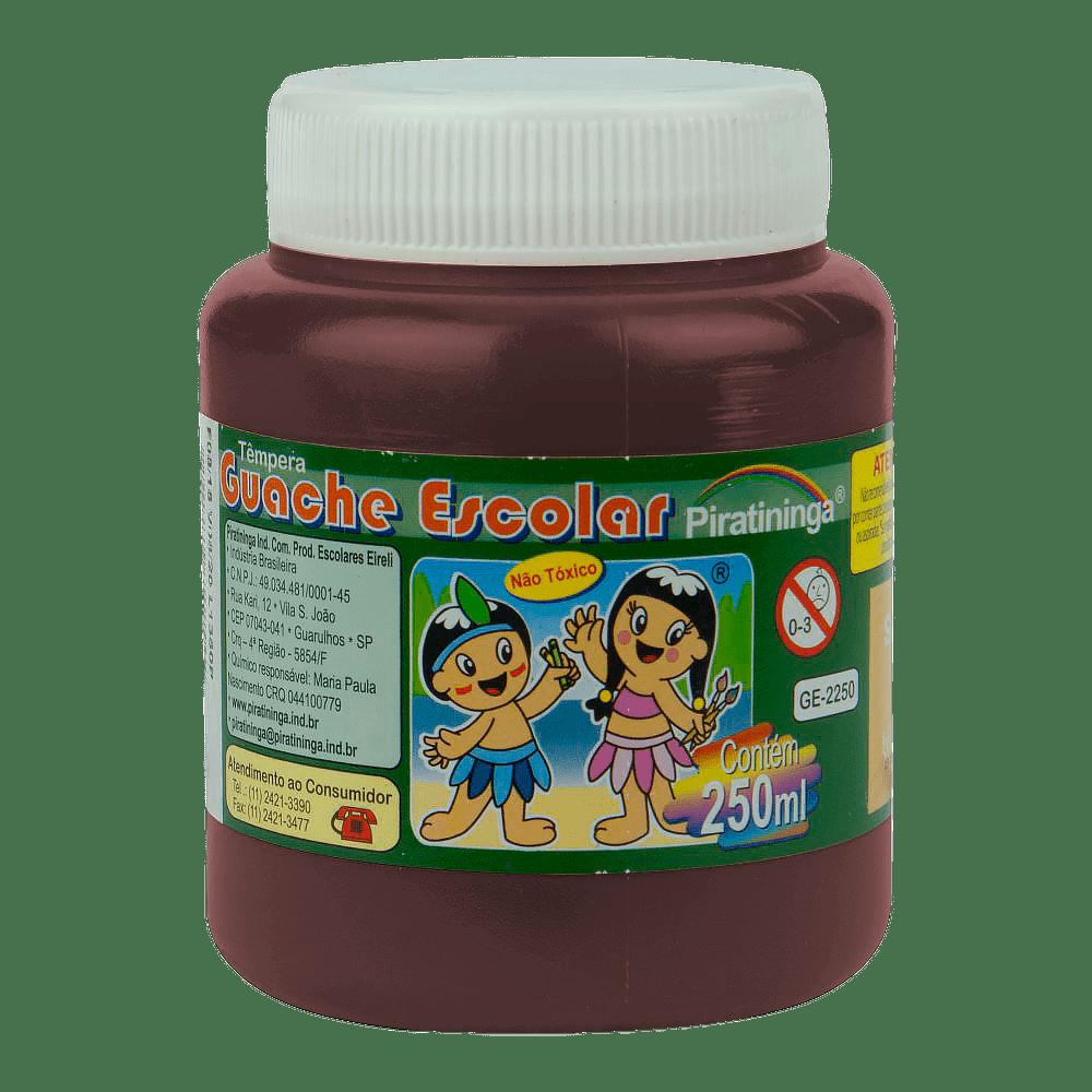 Tinta guache 250 ml marrom Piratininga