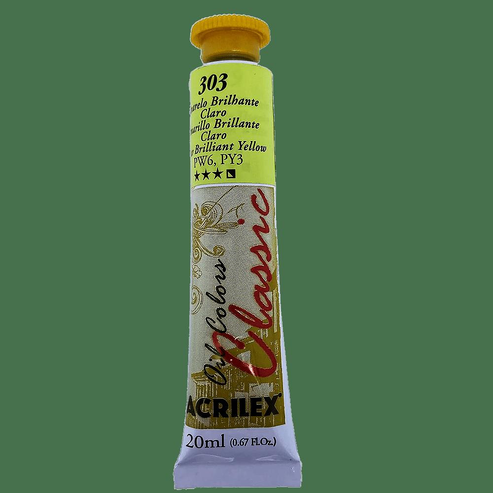 Tinta óleo 20ml amarelo brilhante Acrilex