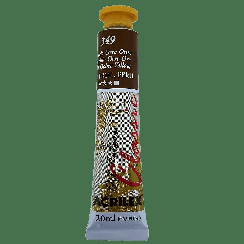 Tinta óleo 20ml amarelo ocre Acrilex