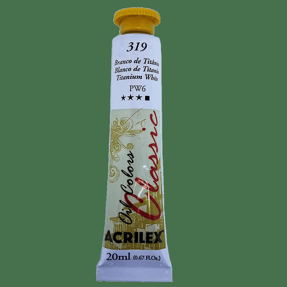 Tinta óleo 20ml branco de titânio Acrilex